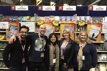 Sami Shah, Alan Baxter, Sulari Gentill, Cat Sparks and Wanda Wiltshire